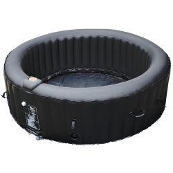 Spa gonflable portable BeneoSpa, bain à remous, jacuzzi, noir