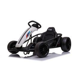 DRIFT-CAR 24V, Blanc, Roues de dérive lisses, Moteur 2 x 350W, Mode dérive à 18 Km / h, Batterie 24V, Construction solide