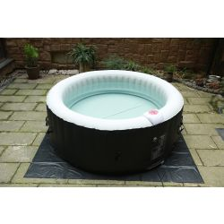 Spa gonflable portable BeneoSpa, bain à remous, jacuzzi, Noir blanc