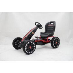 ABARTH Go Kart - Voiture à pédales avec ralenti, noir, roues Eva, licence ORIGINAL