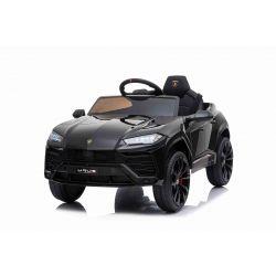 Voiture électrique Lamborghini URUS, noir, sous licence d'origine, alimenté par batterie, portes à ouverture verticale, 2x moteur, batterie 12 V, télécommande 2,4 GHz, roues EVA souples, suspension, démarrage en douceur