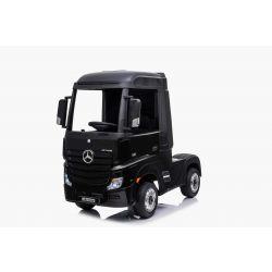 Mercedes-Benz Actros, noir, siège en cuir, lecteur MP3 avec entrée USB, transmission 4x4, 2x batterie 12V7Ah, roues EVA, essieux de suspension, télécommande à 2,4 GHz, avec licence
