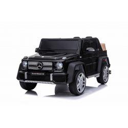 Voiture électrique Mercedes G650 MAYBACH, Noir, Licence d'origine, Batterie 12V, Portes ouvrantes, Moteur 2 x 25W, Télécommande 2,4 Ghz, Roues EVA douces, Suspension, Démarrage progressif, Lecteur MP3 avec entrée USB / SD