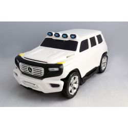 Kids Pull Along Licensed Mercedes-Benz  Ener-G-Force Luggage- White Small Travel Bag